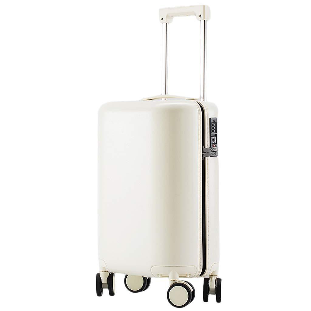 ZHAOSHUHLI スーツケース旅行トロリーケース荷物トロリートロリー小さな新鮮なスーツケース女の子かわいいパスワードボックス (Color : White, Size : 17'') B07R3SDY58 White 17''