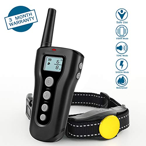 Dog Training Collar, 1000ft Remote Range, Waterproof & Rechargeable,Training Devices No Shock Pet Trainer with 3 Training Modes – Beep/Vibration/Tone Commands , Safe and Cruelty Free Training for Dog. Review