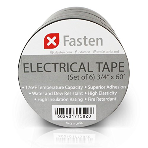 xfasten-vinyl-electrical-tape-3-4-inch-by-60-foot-pack-of-6-heavy-duty-weather-resistant