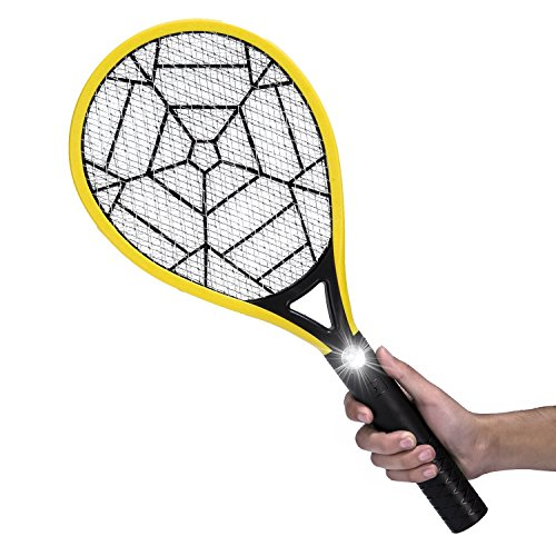 Buy Cheap Mokale Electric Fly Swatter-Rechargeable Bug Zapper Racket and Mosquito Insects Killer-3000 Volt- Fly Traps with Bright LED Light-3-Layer Mesh for Indoor and Outdoor Pest Control