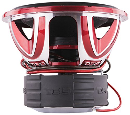 DS18 HOOLIGAN X15.4D Subwoofer in Red with Kevlar Enforced Paper Cone and Upgraded Spider - 6,000W Max, 4,000W RMS, Dual 4 Ohms - Powerful Car Audio Bass Speaker (1 Speaker)
