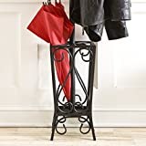 Southern Enterprises Metal Scrolled Coat Rack and
