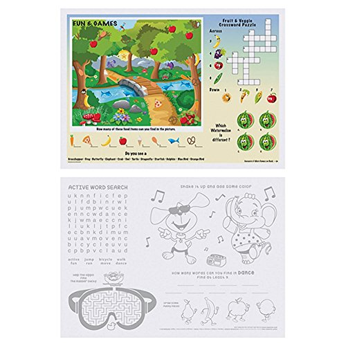 Kids Games and Puzzles Paper Placemats - 10in. X 14in. (50) by MPS (Image #1)