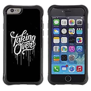 LASTONE PHONE CASE / Suave Silicona Caso Carcasa de Caucho Funda para Apple Iphone 6 PLUS 5.5 / Taking Over Black Scary Paint Dripping