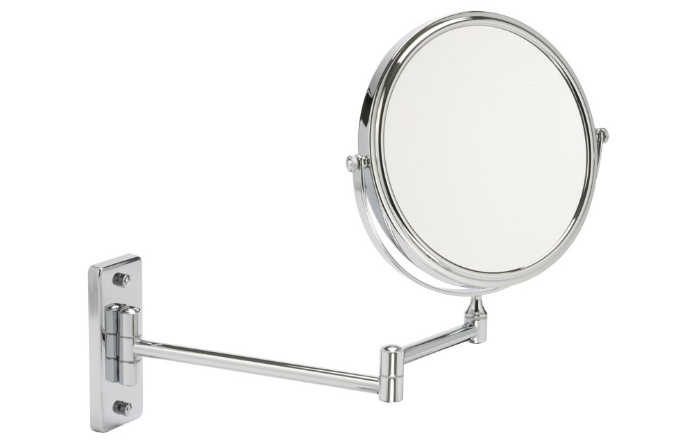 5x Magnification Chrome Wall Mounted Extendable Mirror With Rectangular Base Amazoncouk Health Personal Care