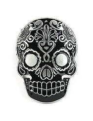 Senmi Aztec Skull Blue Belt Buckle(Black)