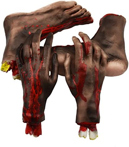 Bloody Severed Hand Scary Halloween Body Part Party Prop Decoration Toy