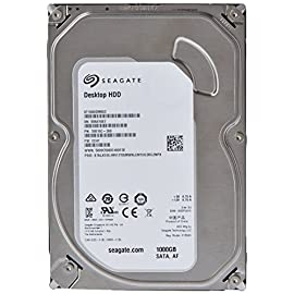 (Old Model) Seagate 1TB Desktop HDD Sata 6Gb/s 64MB Cache 3.5-Inch Internal Bare Drive (ST1000DM003) 11 Ideal for everyday desktop and computing storage 1TB capacity stores 120 HD video, or 200,000 photos, or 250,000 songs 7200 RPM