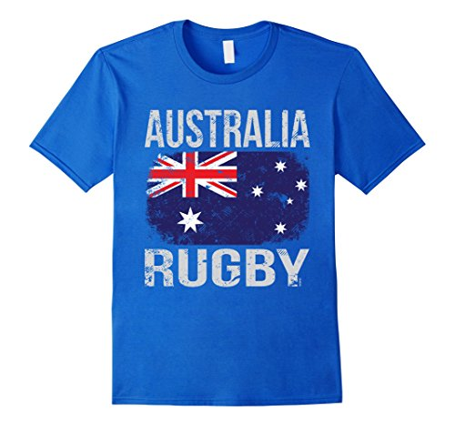 Mens Australia Rugby, Australian Flag T-Shirt Large Royal Blue (Shirt Rugby Australia Home)