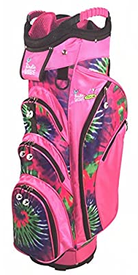 Birdie Babe Pinkadelic Pink Tye Die Womens Golf Cart Bag with 14-Way Dividers