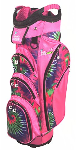 Birdie Babe Pinkadelic Pink Tye Die Womens Golf Cart Bag with 14-Way Dividers