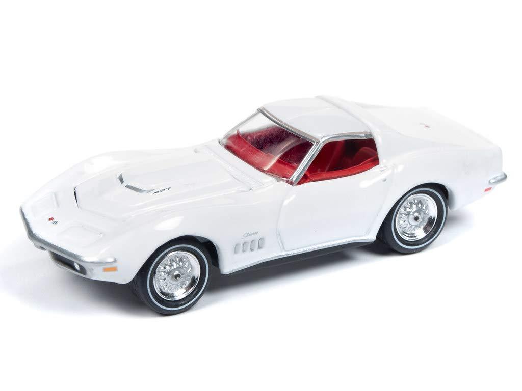 Johnny Lightning Jlmc019 Muscle Car 1969 Chevrolet Corvette Ver A White