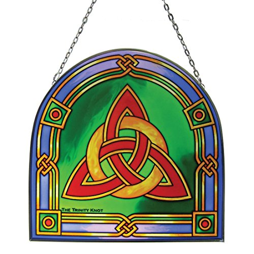 Stained Glass Trinity Knot - Irish Celtic Trinity Knot Stained Glass Panel