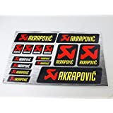 Akrapovic Exhaust Stickers Decals 30x20cm Heat Resistant vinyl with extra protection on top