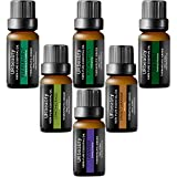 #1: URbeauty Essential Oils, Upgrated 6 Aromatherapy Essential Oil Diffuser Essential Oils 100% Pure Lavender, Peppermint, Sweet Orange, Eucalyptus, Tea Tree, Lemongrass Essential Oil Gift Set 10ml/each