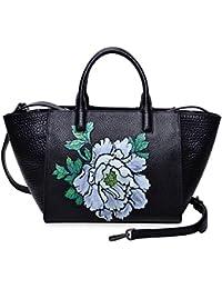 Women Top Handle Handbag Satchel Floral Purse Shouder Bag