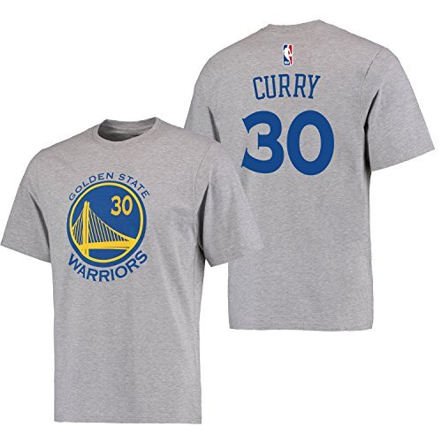 Stephen Curry Golden State Warriors #30 Adidas Grey Name And Number Kids T Shirt (Kids 5/6) ()