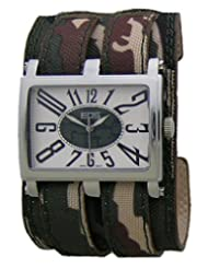 EOS New York Unisex 19LCAMO Trendsetter Camo Leather Strap Watch