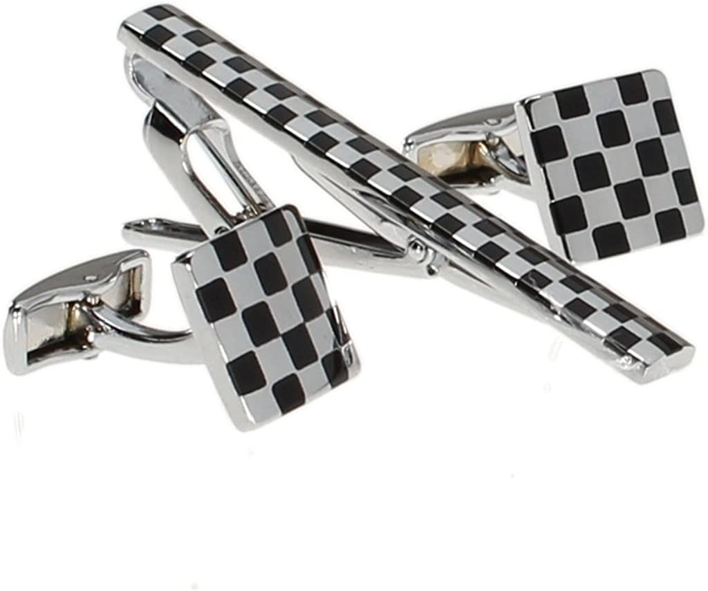 Wedding Gifts Racing Flags Wood Cufflinks Gift For Him Groomsman Gifts and Personalized