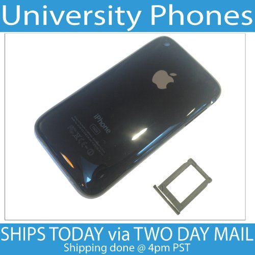 New Black Back Housing for iPhone 3G 16GB - Battery Door Plastic Case 3GS