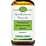 New Radiance Naturals Organic Anti-Aging Hyaluronic Acid Serum with Vitamin C for Face, 1 fl. oz. / 30ml