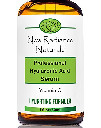 New Radiance Naturals Organic Anti-Aging Hyaluronic Acid Serum with Vitamin C for Face, 1 fl. oz. / 30ml - Vitamin Radiance Cream