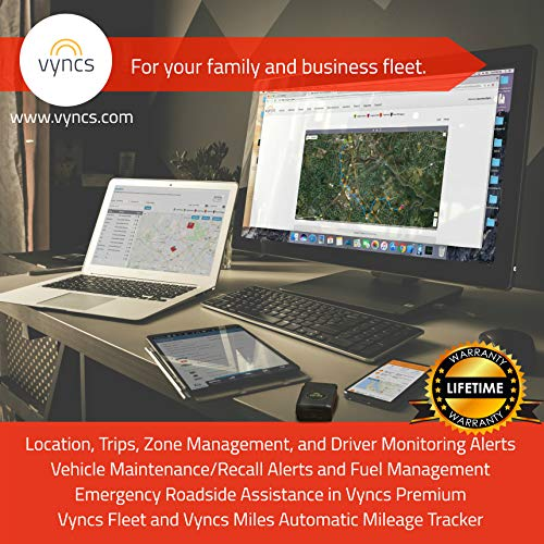 gps tracker vyncs no monthly fee obd real time 3g car gps tracking