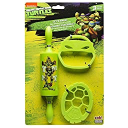 Zak Designs TNTR-S100 Ninja Turtles 3 Piece Kids Baking Set for Cookies, Decorated