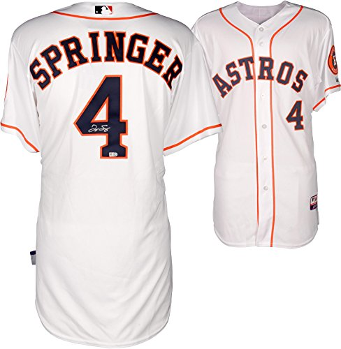 George Springer Houston Astros Autographed Majestic Authentic Home Jersey - Fanatics Authentic - Authentic Autographed Home Majestic Jersey