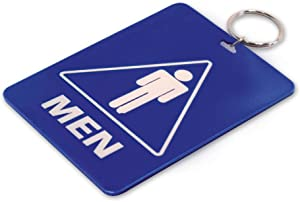 Lucky Line - Men's Restroom Pass Key Tag, Plastic with Split Key Ring Keychain Identifier for Restaurant, Office, Gas Station, 1 Per Pack (53101)