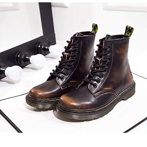 Uomo Stivali Stivali Pelliccia Marrone Inverno SITAILE Cavaliere Stivaletti Snow caldo Neve Donna Stringati Boots A FACHAxq