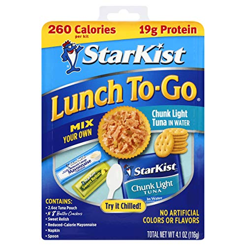 StarKist Lunch To-Go Chunk Light Pouch – Mix Your Own Tuna Salad – (Packaging 4.1 Ounce (Pack of 12)
