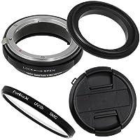Fotodiox RB2A 58mm Macro Reverse Ring Kit w/ Nikon G & DX Lens Aperture Control, Lens Cap & 52mm UV Protector