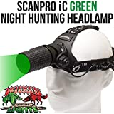 Wicked Lights ScanPro IC Night Hunting Headlamp with GREEN Intensity Control LED for hog coyote predator hunting