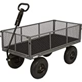 Bannon Industrial-Grade Steel Wagon - 1200-Lb. Capacity, 13in. Tires