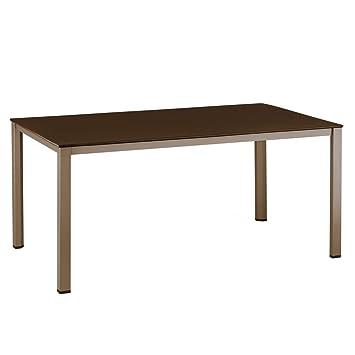 Amazon.de: Kettler Tisch, 160 x 95 cm, bronze/mocca