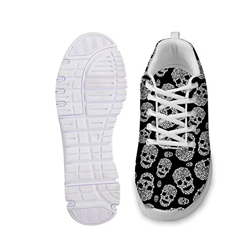 Bigcardesigns Stylish Sneaker Casual Sprot Skull Head Running Shoes Allesterno 40