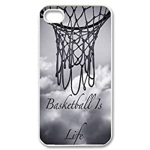 basketball Design Discount Personalized Hard Case Cover for iPhone 4,4S, basketball iPhone 4,4S Cover