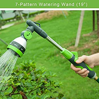 Watering Wand 8-Pattern Adjustable Lawn Garden Hose Irrigation Sprayer Nozzle