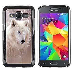 Caucho caso de Shell duro de la cubierta de accesorios de protección BY RAYDREAMMM - Samsung Galaxy Core Prime SM-G360 - Cool Winter Wolf
