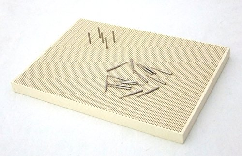 Large Sized Honeycomb Ceramic Soldering Block with Metal Pins]()