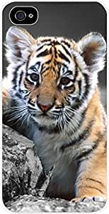 Tiger Cub- For SamSung Galaxy S4 Phone Case Cover Universal- Hard White Plastic