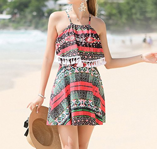 cappuccio XL Beach Chest Little Spa Skirt Swimsuit Skirts Little con HOMEE rosso Gathered Summer Thin Swimsuit THOfxq