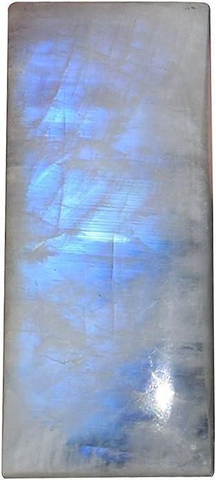 Blue Flashy Rainbow Moonstone Loose Gemstone Natural Rainbow Moonstone Cabochon Heart Shape Ring Size 14*14*7mm 11Cts Jewellery Gemstone