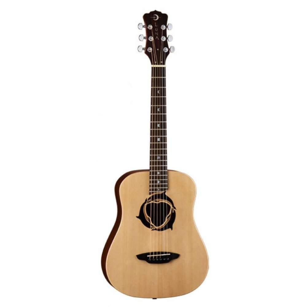 Luna Safari Series Dolphin Travel-Size Dreadnought Acoustic Guitar by Luna Guitars