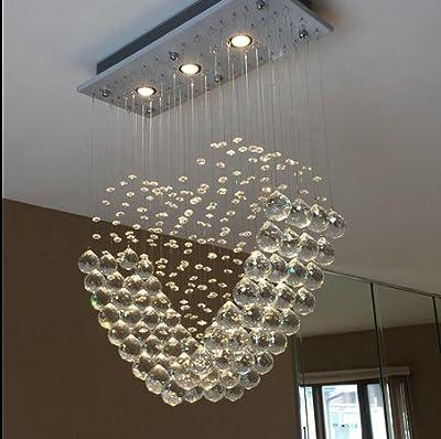 Ella Fashion? Deluxe Modern Chandelier Rain Drop Lighting Crystal Ball Fixture