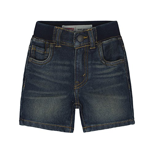 Levi's Baby Boys' Ribbed Waistband Shorts,Inky Shades, 6-9 - Fly Shades 2016