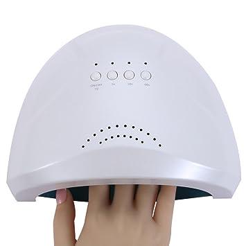 Lámpara De Uñas LED UV 3 Tipos Temporizador Secador De Uñas Sensor Para Uñas De Gel Y Toe Nail Curing,White: Amazon.es: Hogar
