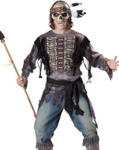 [Spirit Warrior Costume - Medium - Chest Size 38-40] (Holloween Spirits Costumes)