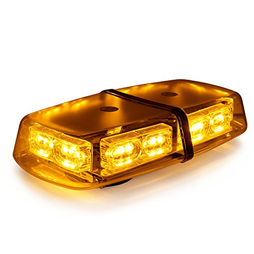 Led mini light bar amazon xprite gen 3 amber yellow 36 led 18 watts high intensity law enforcement emergency hazard warning led mini bar strobe light with magnetic base aloadofball Gallery